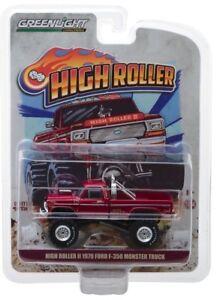1-64-GreenLight-HIGH-ROLLER-II-MONSTER-TRUCK-1979-Ford-F350-NIP
