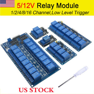 Details about Arduino 1-2-4-8-16 Channel Raspberry PI ARM AVR DSP PIC PLC  Relay Module 5V 12V