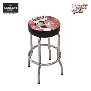 tabouret de bar betty boop pouf chaise caf salon de th vintage tendance d co ebay. Black Bedroom Furniture Sets. Home Design Ideas