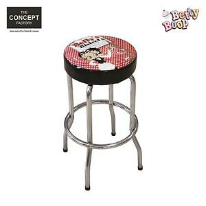Tabouret de bar betty boop pouf chaise caf salon de th vintage tendance d c - Tabouret bar vintage ...