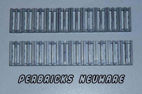 Lego Technic Technik 20x Gitterstein 1x2 #2412b flat silber NEU