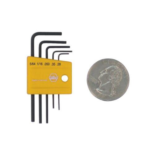 5 Piece in Plastic Holder Wiha 35393 Mini Inch Hex L-Key Set