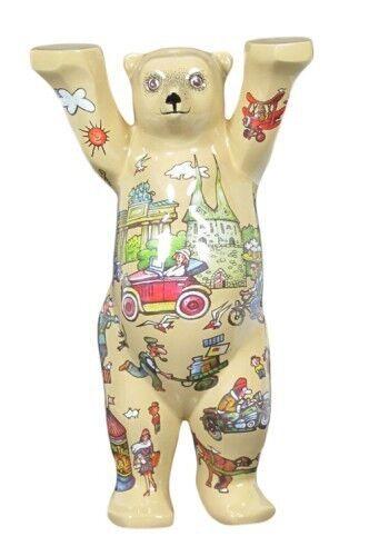 incredibili sconti Buddy Bear Old Berlino Traffic Nuovo Scatola Scatola Scatola Originale nostalgia ORSO Comic Stile + piano in vetro 2018  negozio all'ingrosso