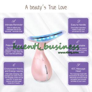 Collo-Lift-massaggio-LED-Anti-rughe-doppio-mento-sottile-Tonificante-rassodante