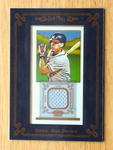 2009-Topps-T-206-Framed-Mini-Jersey-Relic-FR-6-Chipper-Jones-HOF-Old-Mill