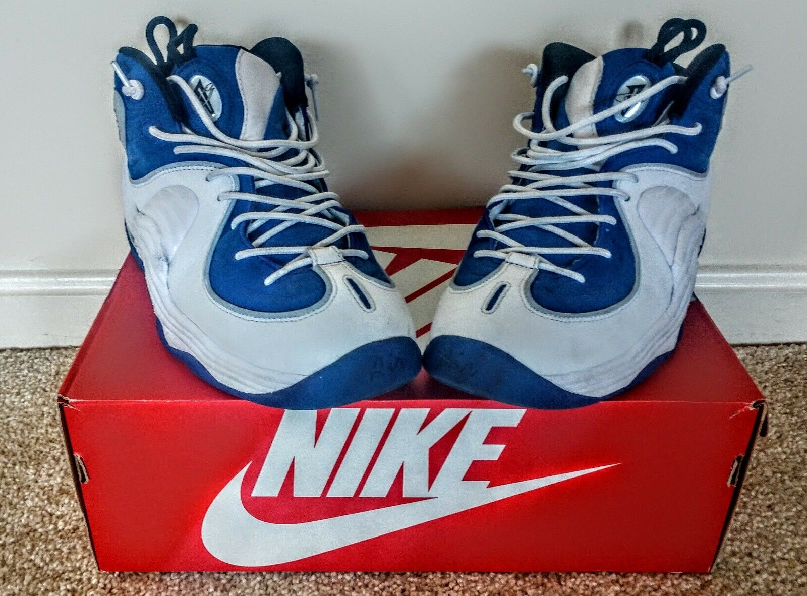 Nike Air Max Penny II 2 College Blue Metallic Silver White 333886-400 Mens  9.5
