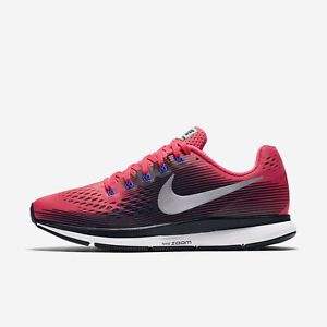 Nike WMNS Air Zoom Pegasus 34 [880560-604] Women Running Shoes Solar Red/Silver