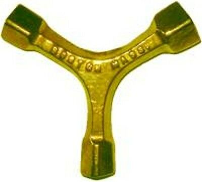 1900-1950 Antiques Considerate Furniture Repair Part Brass 3 Way Bed Bolt Wrench B7994 Durable Service