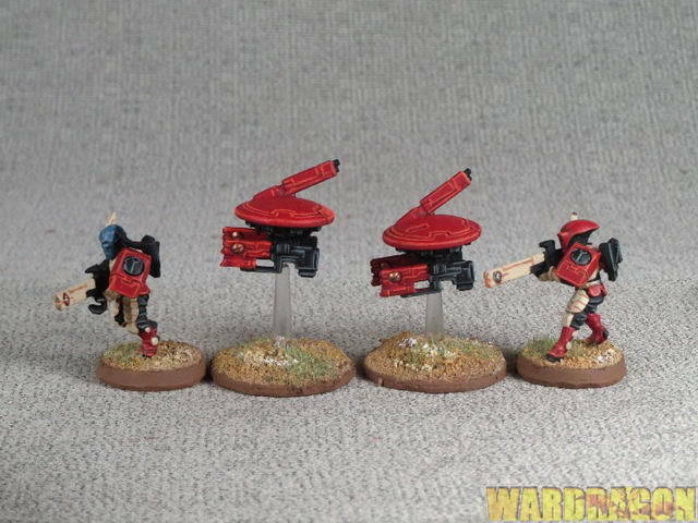 25mm Warhammer 40K WDS painted painted painted Tau Empire Fire Warrior Team r29 be9f8e