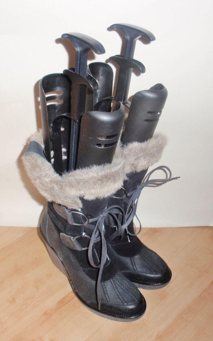 NEW Bronx Damenss schwarz suede fashion wedge Größes heeled Stiefel - various Größes wedge 10f0bb