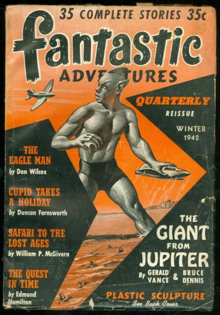 FANTASTIC ADVENTURES QUARTERLY REISSUE, Winter 1942 - giant SF pulp