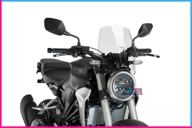 PUIG NAKED WINDSHIELD N.G. SPORT FOR HONDA CB300R NEO SPORTS CAFE 18-21 CLEAR