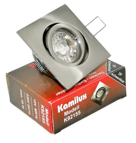 230v LED salle de bain encastré quajo k92155 /& LED-projecteur 7w gu10 brillante comme 70w