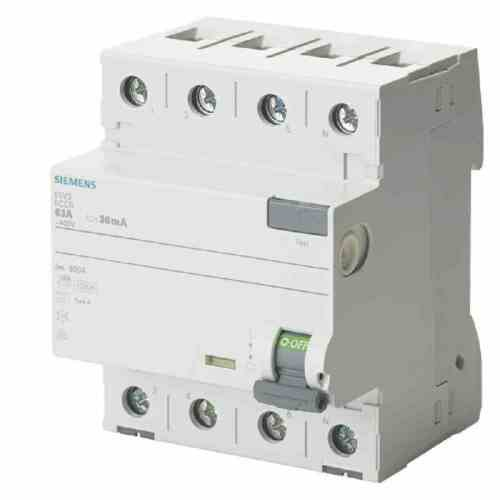 Siemens IS FI-Schutzschalter 25A.3+N.30mA.400V 5SV3342-6