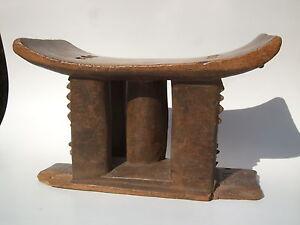 SIEGE-ASHANTI-ART-AFRICAIN-AFRIQUE-TRIBAL-PRIMITIF-PREMIER