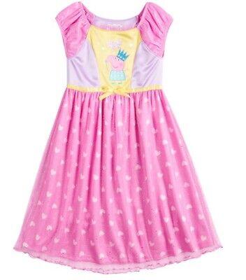 Girls 2T 3T 4T 5T Peppa Pig Fantasy Nightgown Play Dress-Up Costume Pajama NWT
