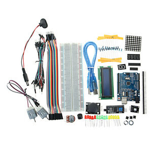 UNO-R3-Starter-Kit-1602-LCD-L293D-Motor-LED-Matrix-MB102-Breadboard-For-Arduino