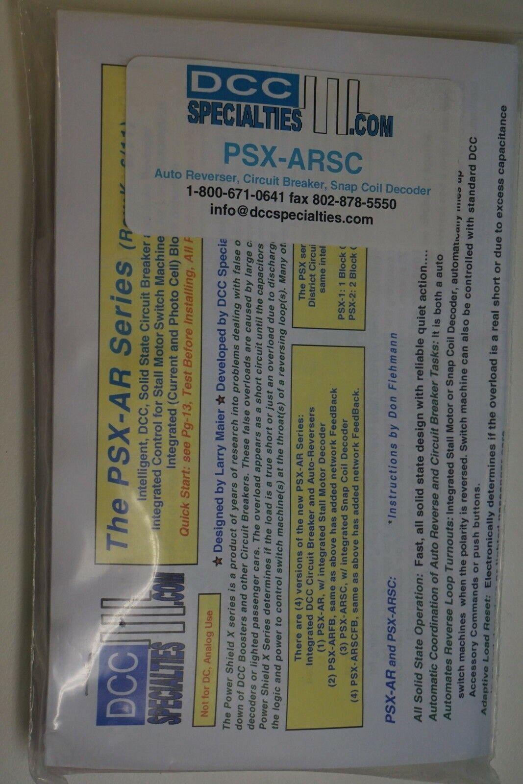 DCC Specialties - PSX-ARSC Auto Reverser Circuit Breaker Snap Coil Yankeedabbler