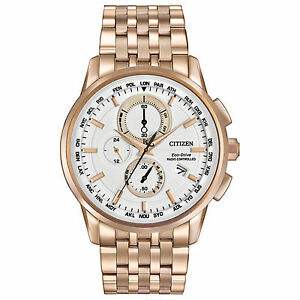 Citizen Eco-Drive Men AT8113-55A World Chronograph A-T Perpetual Calendar Watch