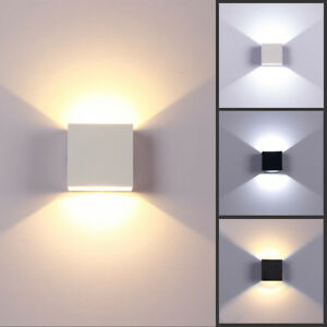 Image is loading Modern-6W-LED-Wall-Light-Up-Down-L&- & Modern 6W LED Wall Light Up Down Lamp Sconce Spot Lighting Home ...
