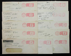 The-North-American-Company-US-Postage-Set-of-11-Stamps-Covers-Adv-Brief-H-7465