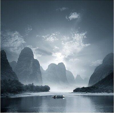 LIJIANG RIVER GLOSSY POSTER PICTURE PHOTO li guangxi zhuang china mountains 1377