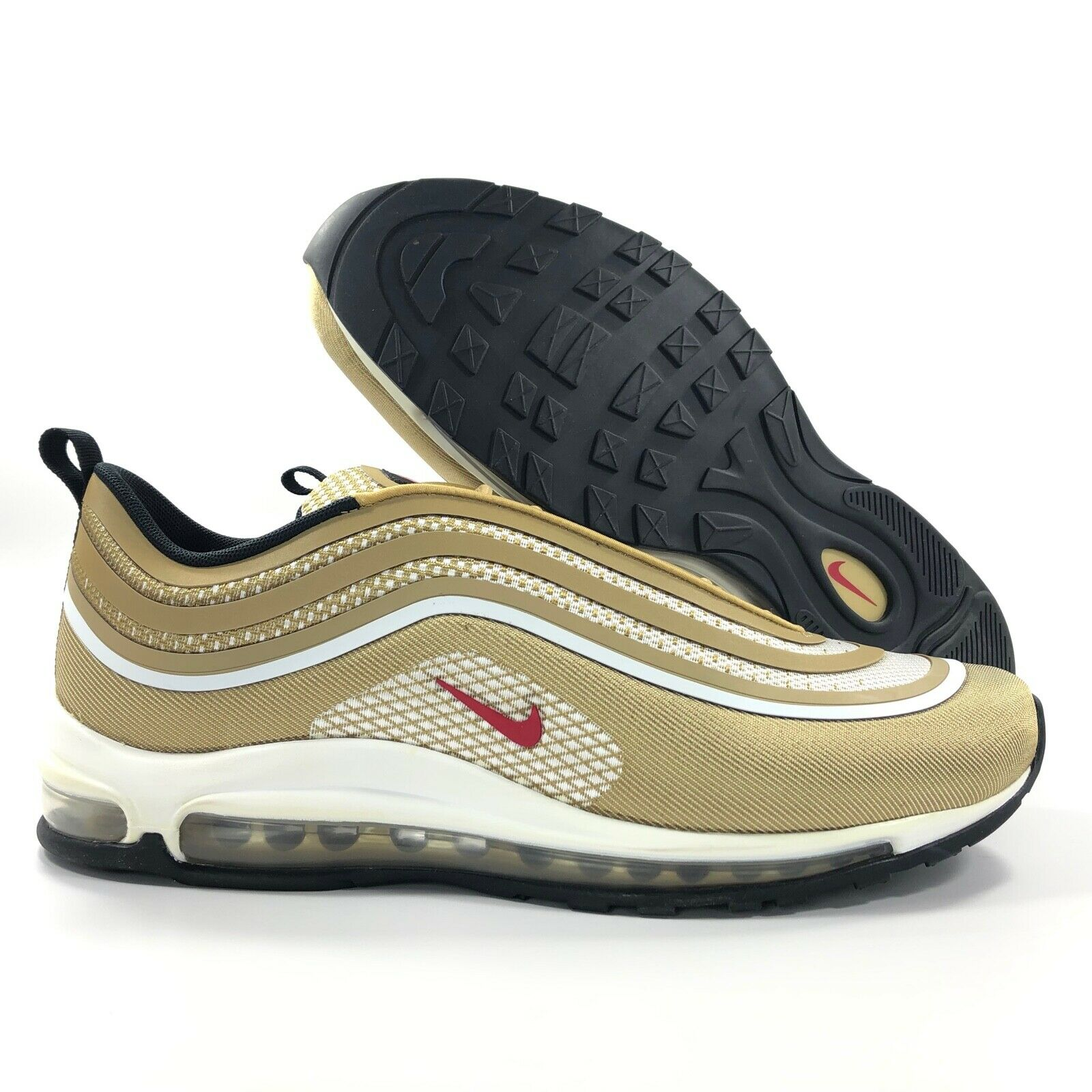 newest ced1f c62db Nike Air Max 97 UL Ultra '17 Gold Bullet Red White Black 918356-700 Men's  11.5