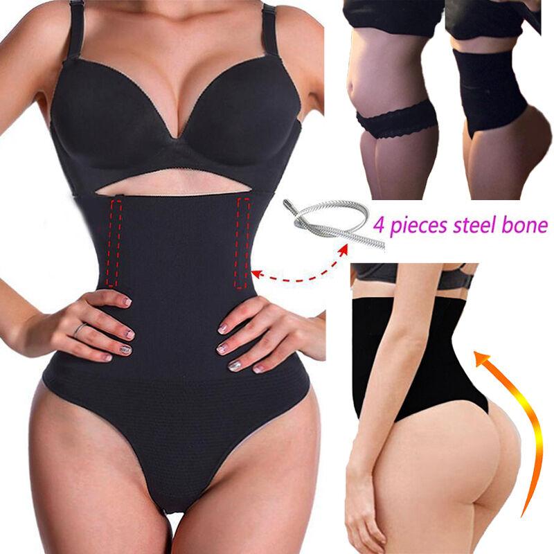 UK Buttstock Butt Lifter Body Shaper Briefs Slimming Panties Tummy Control Thong