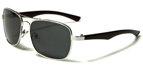 Pilot Style Frame Polarized Lens Woodgrain Print New Polarised Sunglasses