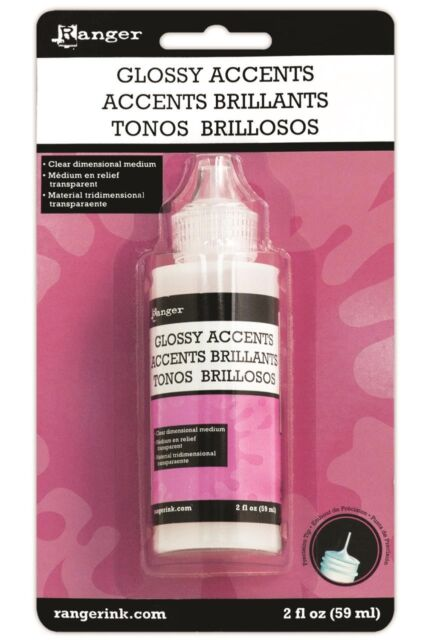 Glossy Accents Clear 3 Dimensional Medium Use as a finish coat glaze or adhesive
