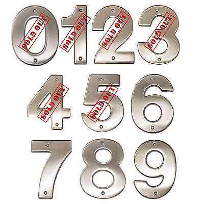 "5"" Chrome House Number Contemporary Address Numbers Ives by Schlage   NEW"