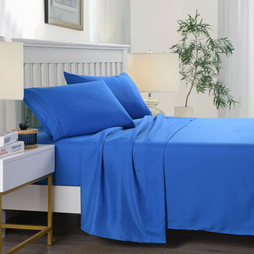 Egyptian Comfort 2200 Count 4 Piece Bed Sheet Set Deep Pocket Bed Sheets