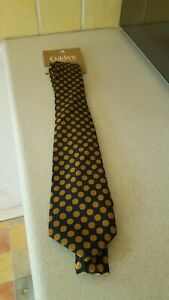 New Caldene Navy With Gold Spot Tie Now Reduced