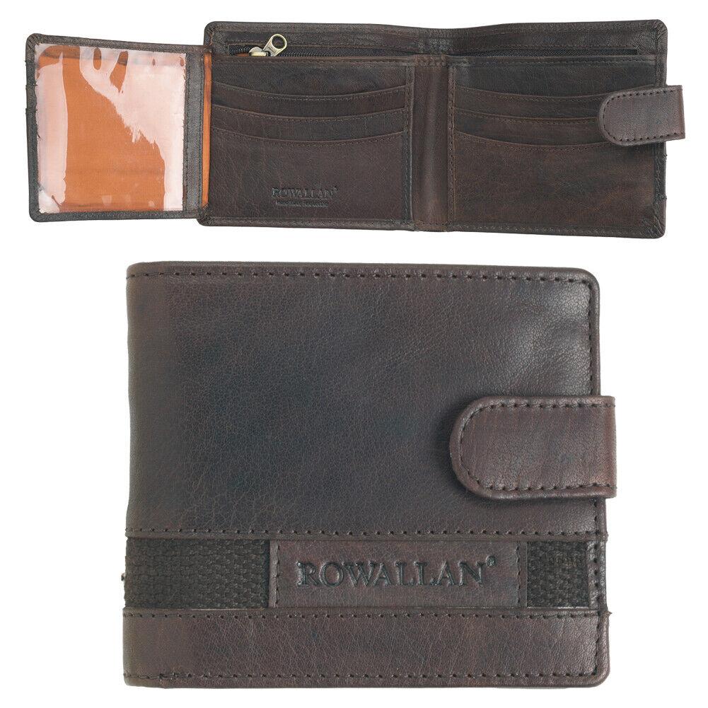 Herren Buffalo Rustikal Echtleder Flip Out Id Fenster Kreditkarte Etui Brown