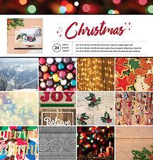 American Crafts 374925 Christmas Lodge 12 X 12 24 Sheet Paper Pad Christmas Lodge