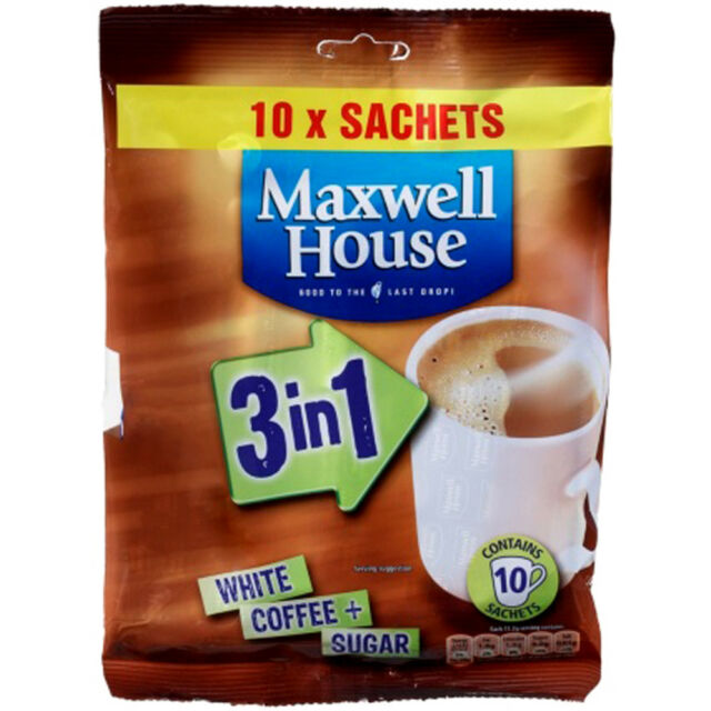 Maxwell House Coffee 5 10 Sachets 3 In 1 With Sugar 50 Instant Drinks