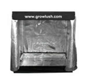 Image is loading GROW-TENT-0-9X0-5X1-6M-GROWLUSH-MYLAR-  sc 1 st  eBay & GROW TENT 0.9X0.5X1.6M GROWLUSH MYLAR REFLECTIVE ALUMINUM GROWING ...
