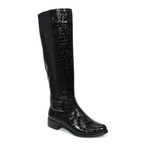 Lunar Kizzy Croc Print Long Boot