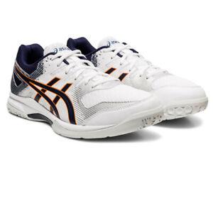 Asics Homme Gel-Rocket 9 Cour Chaussures-Blanc Sports Squash Badminton Respirant