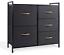 drawer dresser storage unit shelf organizer bins chest 5 fabric drawers home