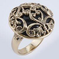 Barse Jewelry Black Onyx And Bronze Scroll Ring