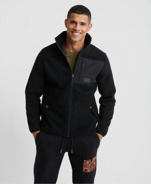 Superdry Men's Sherpa Desert Modern Zip Through Jacket