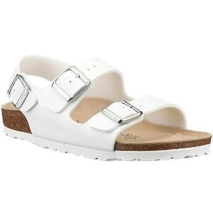 Birkenstock Milano White Mens BirkoFlor Three Straps Sandals