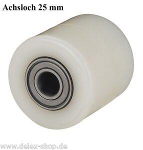 Hubwagenrad-82-mm-Polyamid-Breite-95-mm-Achsloch-25-mm-ohne-Bereifung-Rad-Rolle