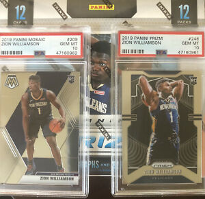 2019-20-ZION-WILLIAMSON-amp-LEBRON-Prizm-PSA-10-Basketball-REPACK-Sealed-Pack