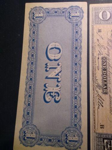 $1 confederate facsimile Feb 1864 Richmond Capitol Building Bill Money FAST SHIP