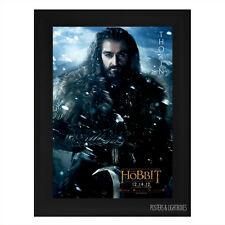 THE HOBBIT THORIN Framed Film Movie Poster A4 Black Frame