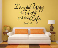Bible Verse Wall Decals Christian Quote Vinyl Wall Art Stickers Religious Decor  sc 1 st  eBay & Bible Verse Scripture Removable Vinyl Decals Wall Stickers Art Home ...