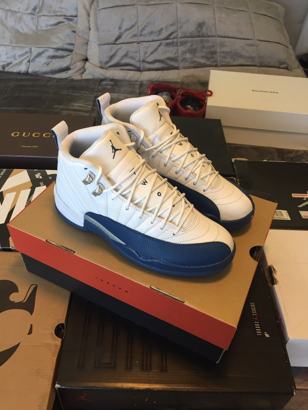 bea605f729 Air 12 bluee size 8.5 French jordan nrkqhl1783-Athletic Shoes