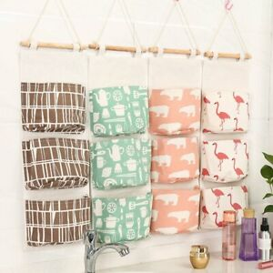 3-Grids-Wall-Hanging-Storage-Bag-Organizer-Toys-Container-Decor-Pocket-Pouch
